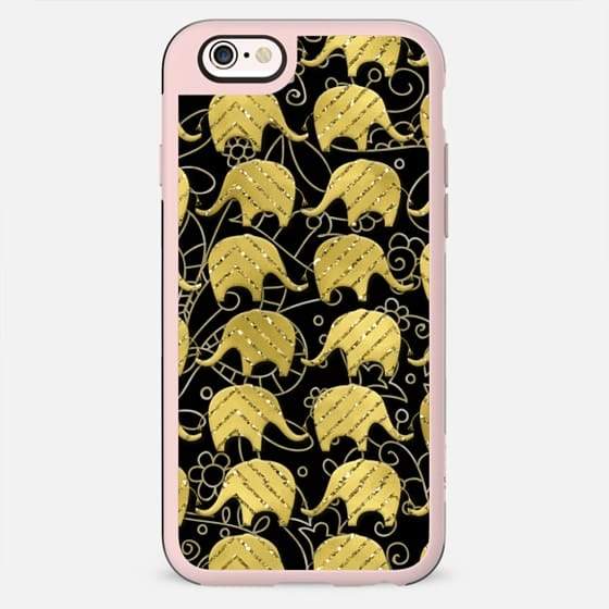 Golden Elephants on Black - New Standard Case