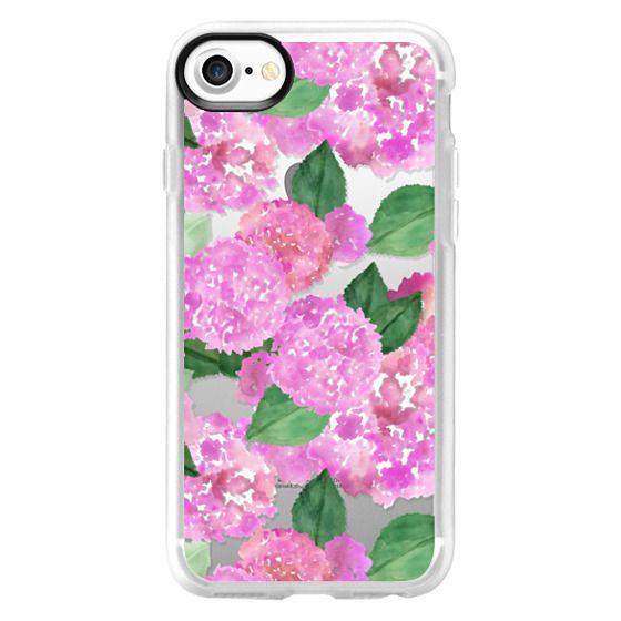 Pink Watercolor Hydrangeas