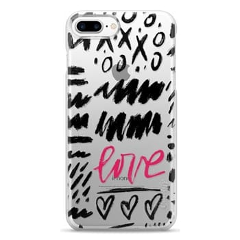 Snap iPhone 7 Plus Case - Love Scribbles