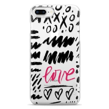 Snap iPhone 8 Plus Case - Love Scribbles