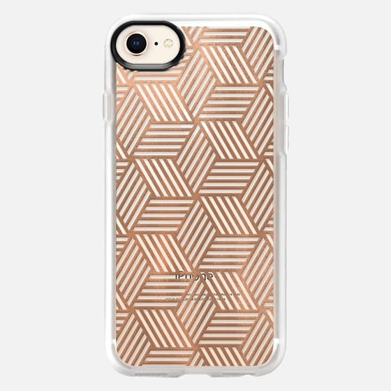 Rose Gold Abstract Cubes - Snap Case
