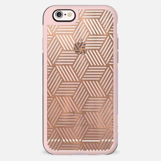 Rose Gold Abstract Cubes - New Standard Case