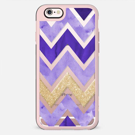 Purple Watercolor and Gold Chevron - New Standard Case