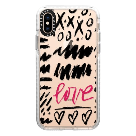 iPhone XS Cases - Love Scribbles