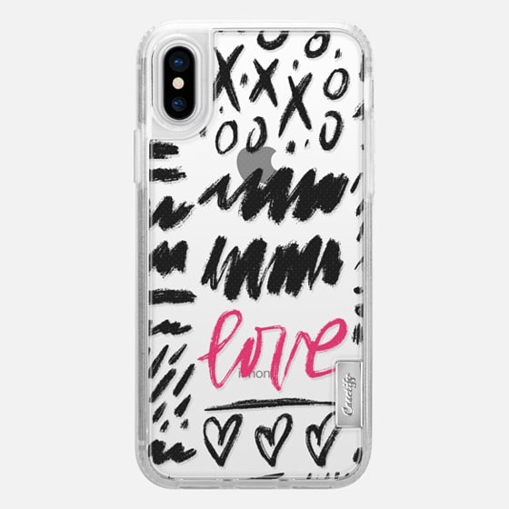 iPhone X Case - Love Scribbles