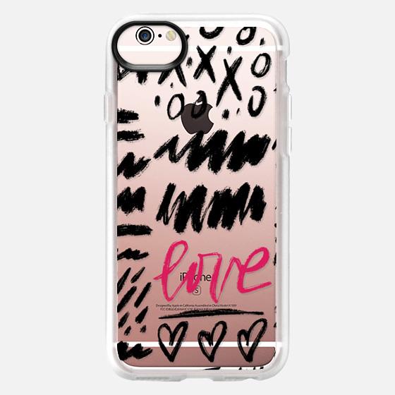 iPhone 6s ケース - Love Scribbles