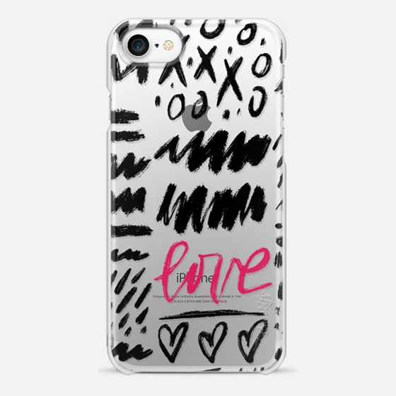 iPhone 7 Case - Love Scribbles