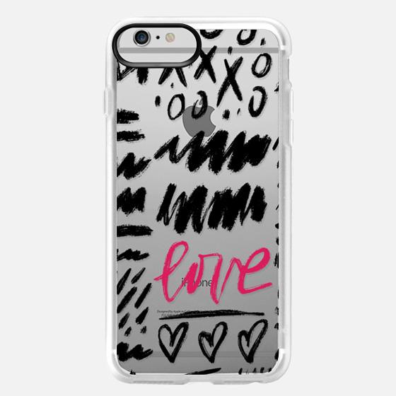iPhone 6 Plus Case - Love Scribbles