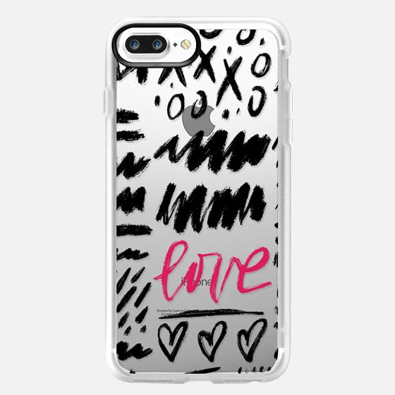 iPhone 7 Plus Coque - Love Scribbles