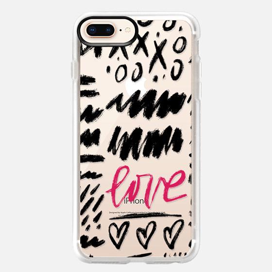 iPhone 8 Plus Case - Love Scribbles