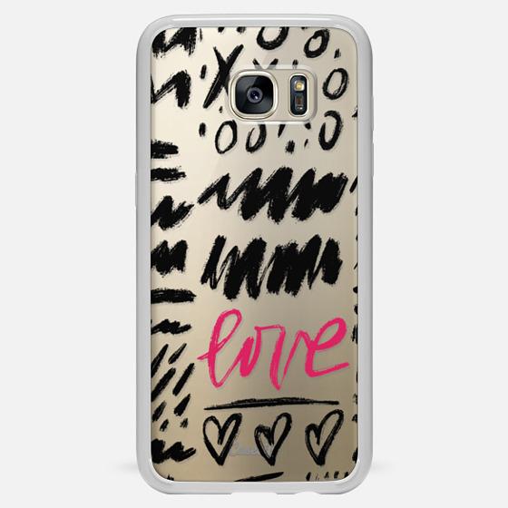 Galaxy S7 Edge Case - Love Scribbles