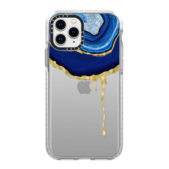 iPhone 11 Pro Cases - Sapphire Dripping Agate