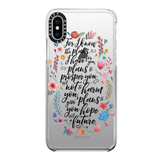iPhone X Cases - Jeremiah 29:11
