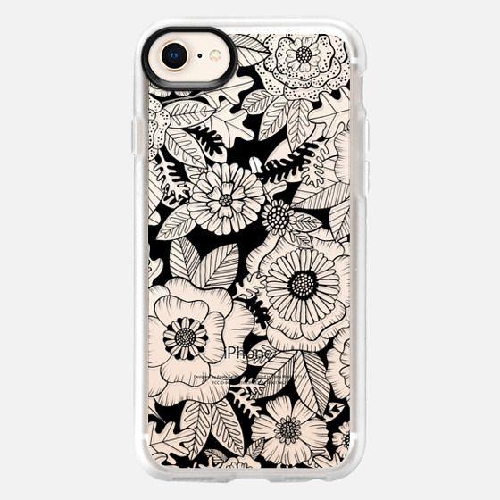 Black Floral - Snap Case