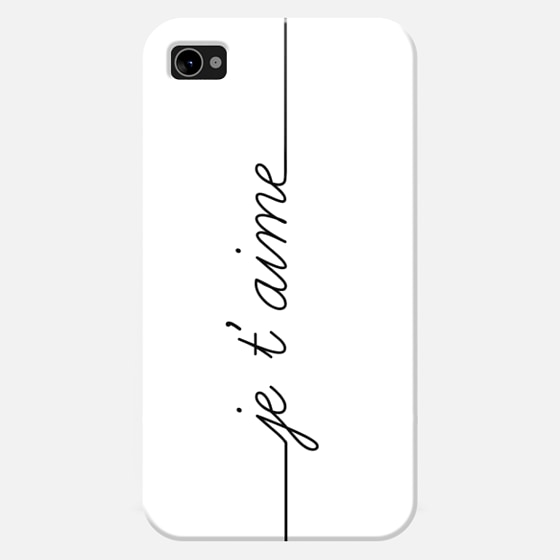 JE T'AIME - I LOVE YOU FRENCH - Wallet Case