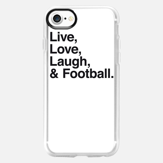 Live Love Laugh and football - Wallet Case