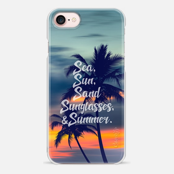 Sea sun sand sunglasses and summer - 2 - Snap Case