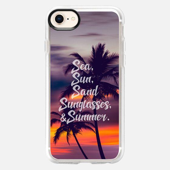 Sea sun sand sunglasses and summer - 4 - Snap Case