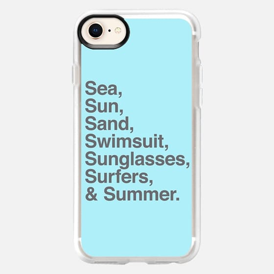 Sea Sun Sand  Swimsuit Sunglasses Surfers and Summer - Snap Case