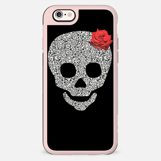Skull and a rose -