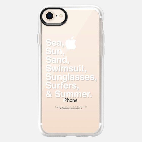 Sea Sun Sand  Swimsuit Sunglasses Surfers and Summer - Snap Case
