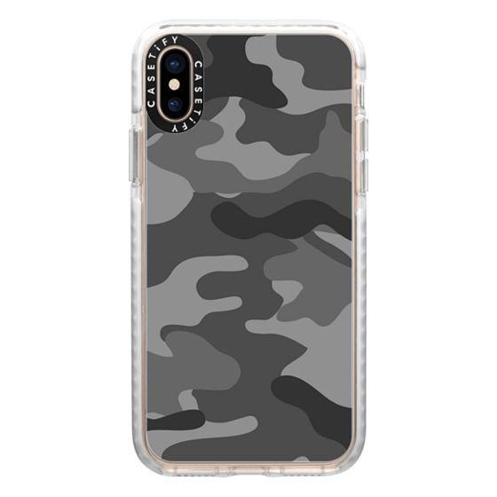 iPhone XS Cases - Camo grey