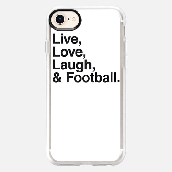 Live Love Laugh and football - Snap Case