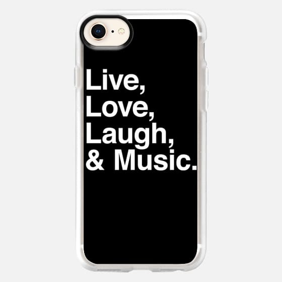 Live Love Laugh and Music - Snap Case