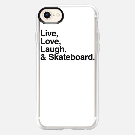 Live Love Laugh and skateboard - Snap Case