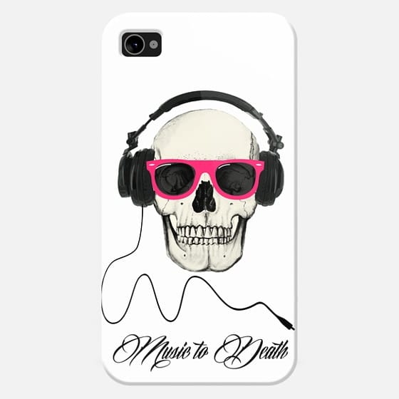 Skull and headphones music to death -