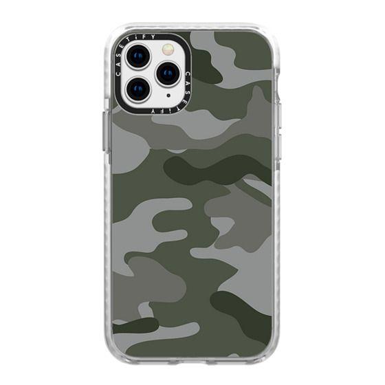 iPhone 11 Pro Cases - Camo green grey