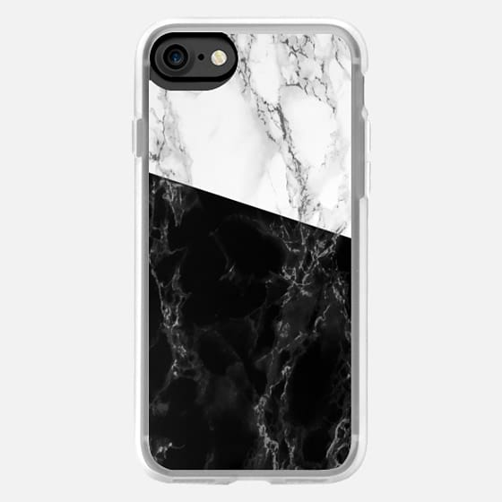 Bicolor black and white marble -