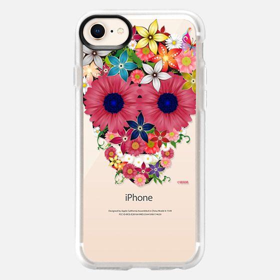 Skull flowers - Snap Case