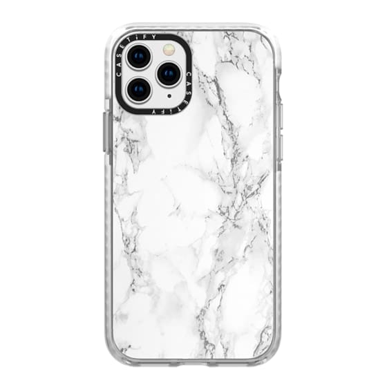 iPhone 11 Pro Cases - White marble