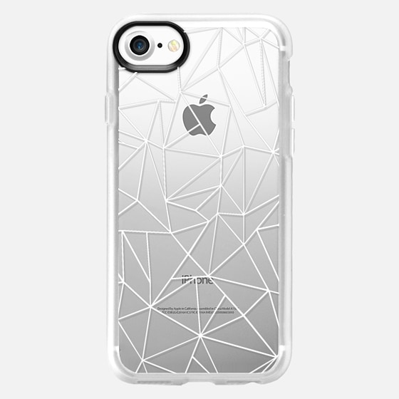 Abstraction Outline White Transparent - Classic Grip Case