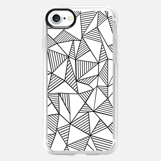 Abstraction Lines Black on White -