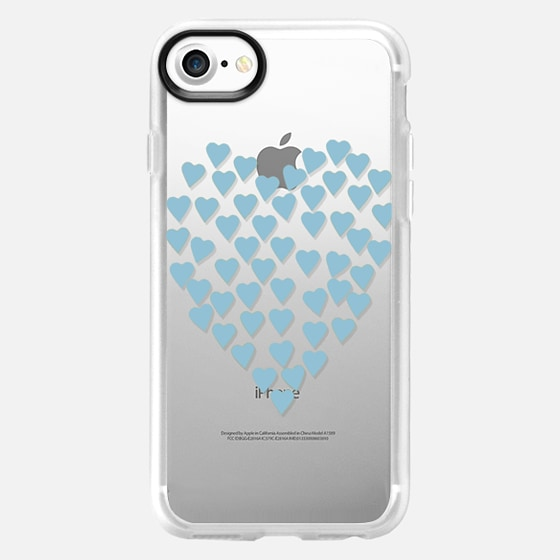 Hearts Heart Light Blue Transparent - Wallet Case