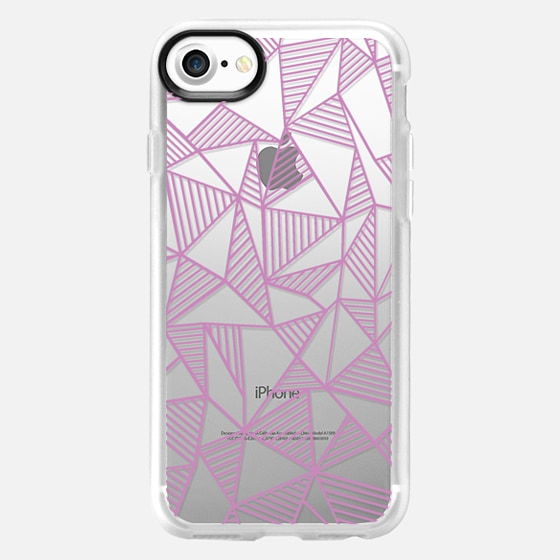 Abstract Lines Dark Pink Transparent -