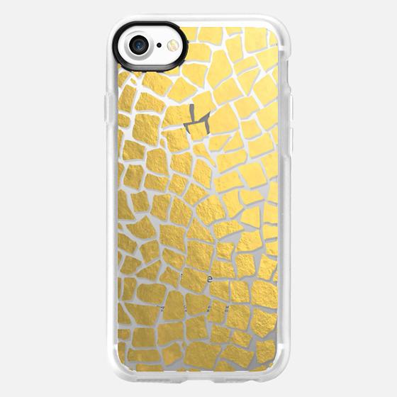 Mosaic Gold Transparent #2 - Wallet Case