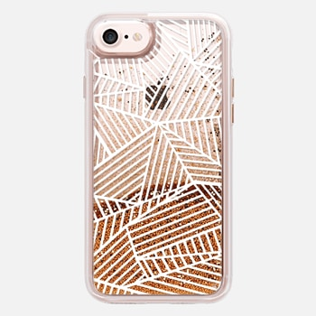 iPhone 7 Case Ab Lines White Transparent