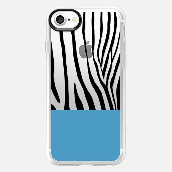 Zebra Blue Black Transparent - Classic Grip Case