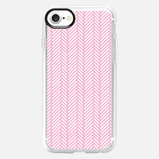 Herringbone Pink -
