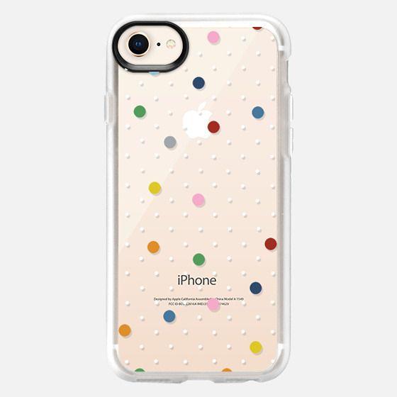 Pin Point Polka Dot Rainbow - Snap Case