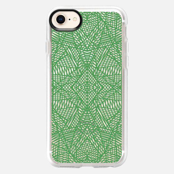 Lace Green Transparent - Snap Case