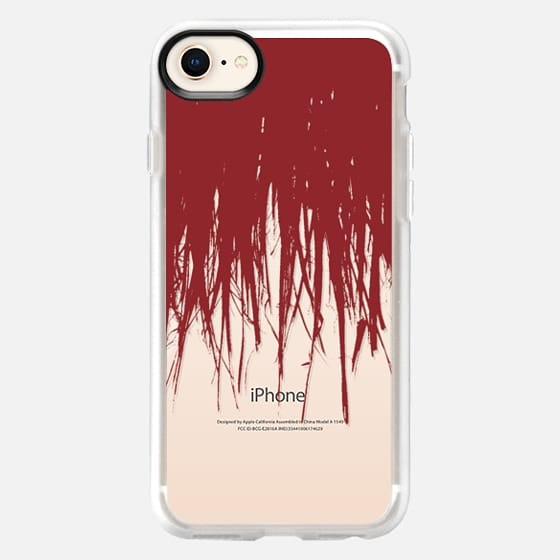 Fringe Red Transparent - Snap Case