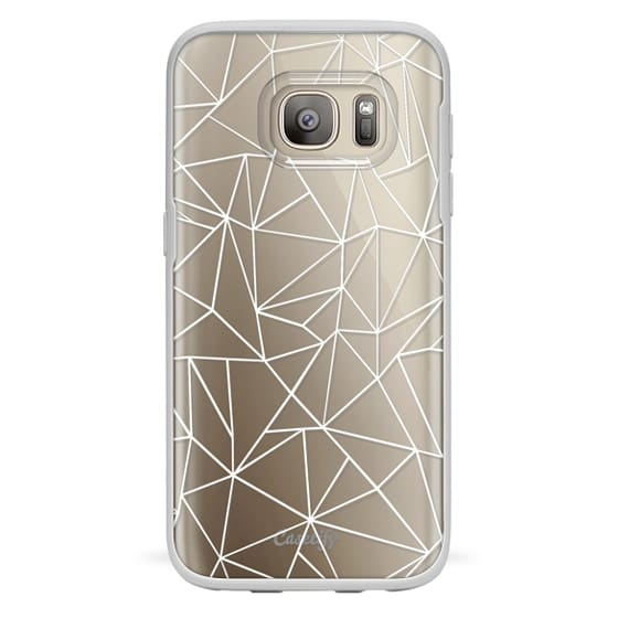 Samsung Galaxy S7 Cases - Abstraction Outline White Transparent