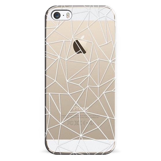 iPhone 5s Cases - Abstraction Outline White Transparent