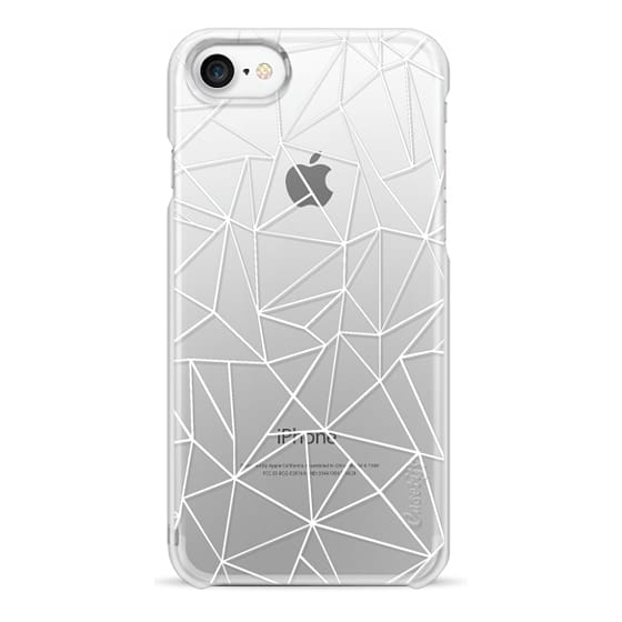 iPhone 7 Cases - Abstraction Outline White Transparent