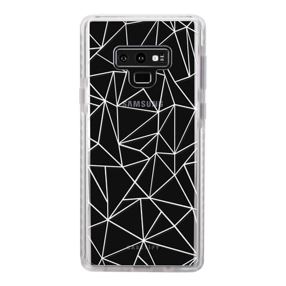 Samsung Galaxy Note 9 Cases - Abstraction Outline White Transparent