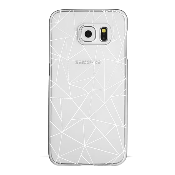 Samsung Galaxy S6 Cases - Abstraction Outline White Transparent